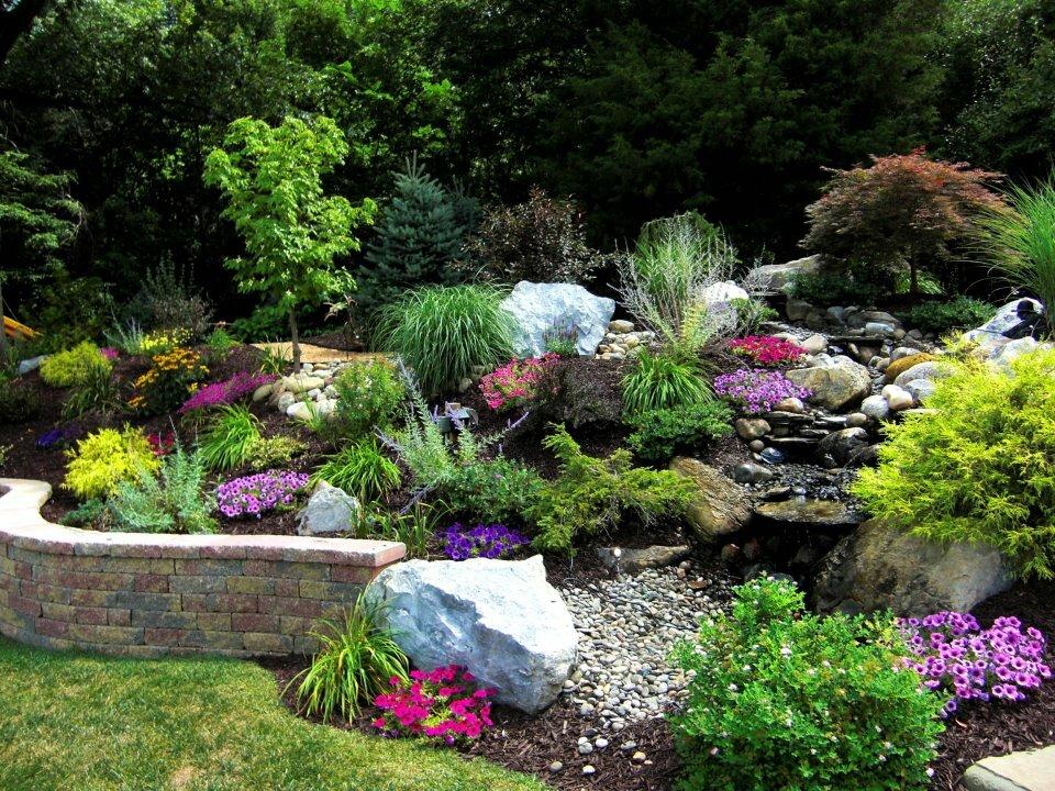 оформление сада камнями фото выпечка